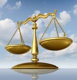 Escala de la justicia Imagen de archivo libre de regalías