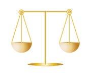Escala de la justicia fotografía de archivo libre de regalías
