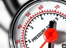 Escala de la presión Imagenes de archivo