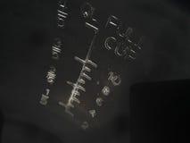Escala de medição em um fundo preto Fotografia de Stock