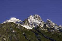 Escala de montanha da cascata Foto de Stock