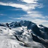 Escala de montanha de Monte rosa Fotos de Stock