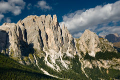 Escala de montanha de Rosengarten Fotografia de Stock Royalty Free