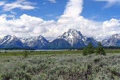 Escala de montanha de Teton Foto de Stock Royalty Free