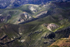 Escala de montanha em Peru Foto de Stock