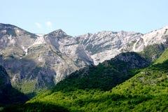 Escala de montanha Jakupica, Macedónia Foto de Stock Royalty Free