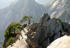 Escala de montanha pitoresca Fotos de Stock Royalty Free
