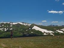 Escala de montanha rochosa Fotografia de Stock
