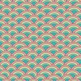 Escala de pescados inconsútil del modelo del vector de la geometría adentro Imágenes de archivo libres de regalías