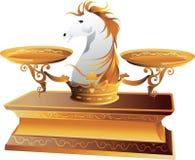 Escala de peso do cavalo ilustração royalty free