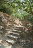 Escala de piedra antigua Fotos de archivo