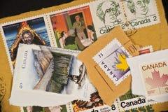 Escala de selos de porte postal canadenses de Canadá Fotografia de Stock