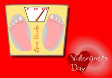 Escala del amor de la tarjeta del día de San Valentín Fotos de archivo