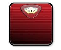 Escala del peso de la ayuda Foto de archivo