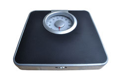 Escala del peso del cuarto de baño Imagenes de archivo