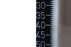 Escala del taladro de la precisión Imagen de archivo