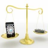 Escala del valor del uso de la PDA Foto de archivo