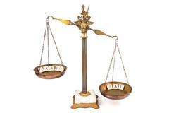 Escala desequilibrado Pague mais do que impostos Imagem de Stock