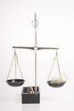 Escala do balanço com pena Fotografia de Stock