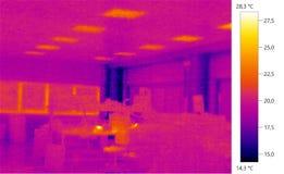 Escala do buildingcolor da foto da imagem de Termal Imagem de Stock