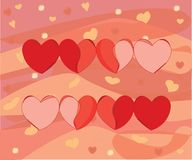 Escala do coração do amor revivendo e de morte ilustração do vetor