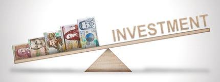 Escala do dinheiro Foto de Stock