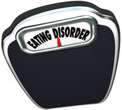A escala do distúrbio alimentar exprime o problema de saúde da bulimia da anorexia Fotografia de Stock
