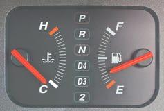 Escala do gás & escala de temperatura imagem de stock royalty free