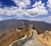 Escala do horizonte do Grande Muralha de China acima imagens de stock royalty free