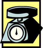 Escala do peso da cozinha Imagens de Stock Royalty Free