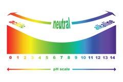 Escala do valor de pH para soluções ácidas e alcalinas Fotografia de Stock