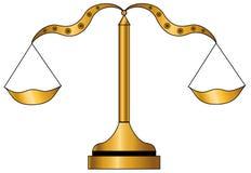 Escala dourada Imagem de Stock Royalty Free