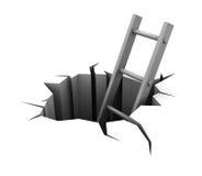 Escala en agujero libre illustration