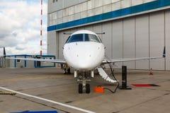 Escala en un jet privado fotografía de archivo libre de regalías
