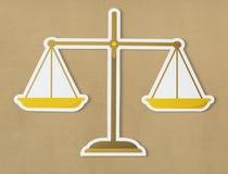 Escala legal del icono de la justicia ilustración del vector