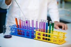Escala llena del od pH de la demostración Imagen de archivo