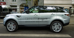 escala luxuosa Rover Sport de SUV do Meados de-tamanho, desde 2013 Fotografia de Stock Royalty Free