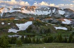 Escala nevado, Wyoming foto de stock royalty free