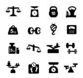Escala o ícone Fotografia de Stock