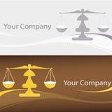 Escala o logotipo Fotografia de Stock Royalty Free