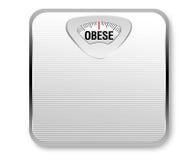 Escala obeso do peso Fotos de Stock Royalty Free