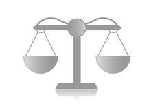 Escala para la justicia Imagen de archivo libre de regalías