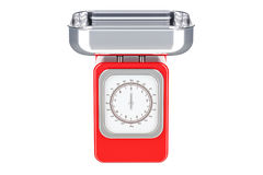 Escala roja de la cocina, representación 3D Imagen de archivo