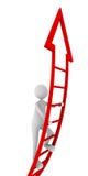 Escala roja del éxito Imagen de archivo libre de regalías