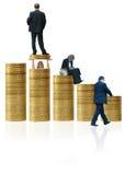 Escala salarial Fotos de archivo