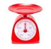 Escala vermelha da cozinha Foto de Stock