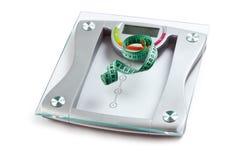 Escala y cinta de medición Foto de archivo