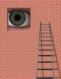 Escala y ojo grande ilustración del vector