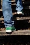 Escalada acima Fotografia de Stock