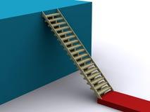 Escalada acima ilustração do vetor
